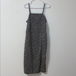 Zara Cheetah Midi Slit Dress